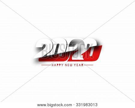 Happy New Year 2020 Text Typography Design Pattern, Vector Illustration.