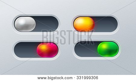 Set Of 4 Switches For Mobile Games, Applications And Websites