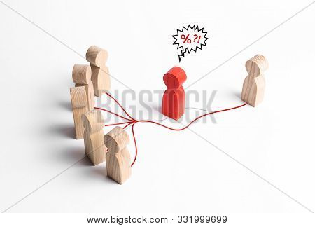 A Group Of People And A Person Contact Without The Expensive Services Of Intermediaries Mediators. E