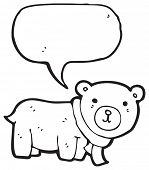 cartoon teddy bear with speech bubble poster