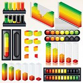 Chart, Graph and Scales. Set of Isolated Vector Design Elements for your Presentation. poster