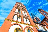 famous gothic dome in Limburg Germany in beautiful colors poster