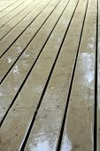 wooden floor after rain poster