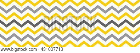 Geometry Background For Banner In The Trending Colors Of 2021. Zigzag. Vector Illustration