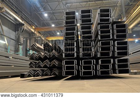 Warehousing In The Shop Of The Factory Stock Of A Corner, Channel.