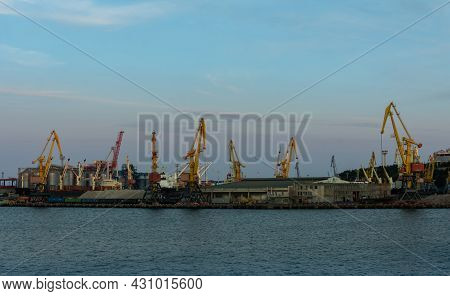 Odessa, Ukraine- August 07, 2021: The Port Of Odessa Is The Largest Ukrainian Seaport And Is A Major