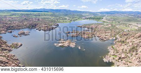 Aerial View Of Watson Lake In Prescott Arizona