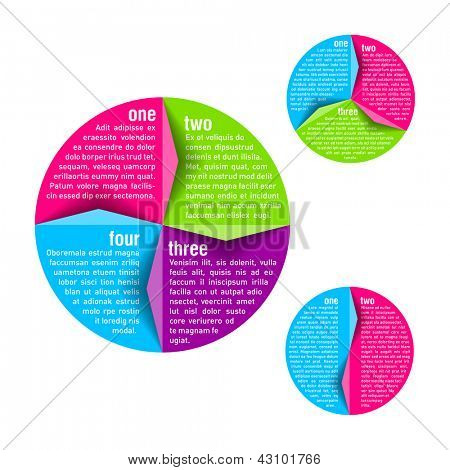 Circle diagram - design template. Vector.