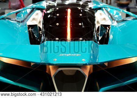 Dubai, Uae - November 16: The Ajlani Motors Drakuma Concept Is On Dubai Motor Show 2019 On November