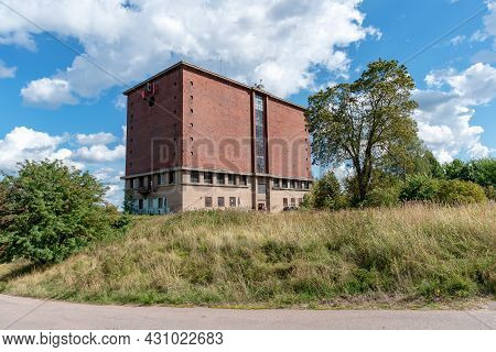 Vyborg, Leningrad Region, Russia - August 13, 2021: Former Water Tower On Batareynaya Mountain. Was