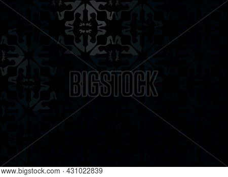 Illustration Abstract Black Floral Ornament And Background