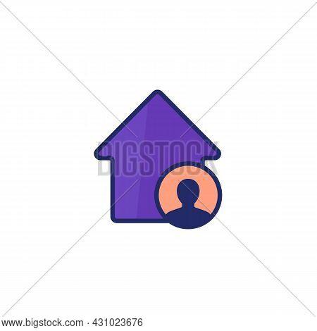 Tenant, House Resident Vector Icon On White