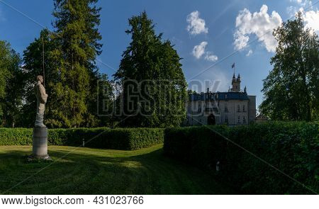 Laitse, Estonia - 12 August, 2021: View Of The Laitse Castle Manor House In Northern Estonia