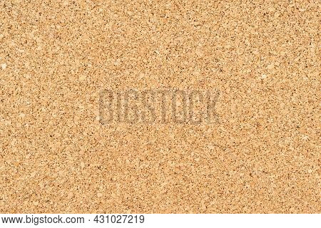 Cork Textured Background. Cork Board Image With Copy Space. Cork  For Underlay In Flooring.