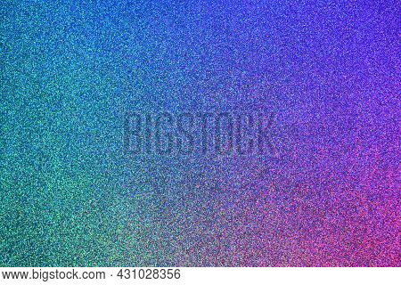 Trendy Glitter Neon Background. Abstract Gradient Pink And Blue Soft Glowing Backdrop.