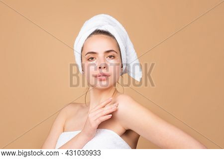 Beautiful Woman With Clean Fresh Skin. Girl Beauty Face Care. Facial Treatment, Cosmetology, Beauty