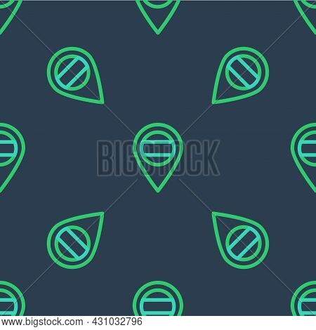 Line Location Russia Icon Isolated Seamless Pattern On Blue Background. Navigation, Pointer, Locatio