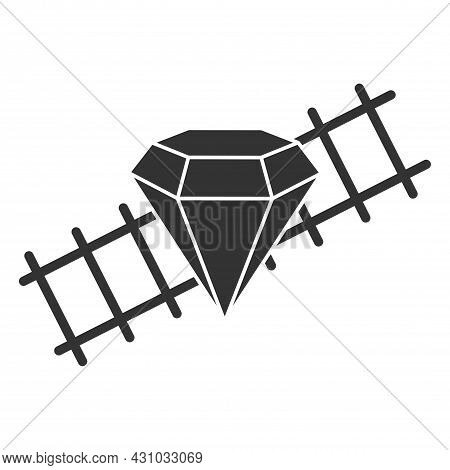 Ruby On Rails Isolated On White Background. Vector Illustration. A Programming Language Framework Fo