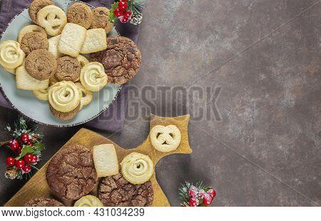 Biscuit. Background Texture. Stack Of Cookies Biscuit Texture From Biscuit Biscuit Tea Cookies Patte