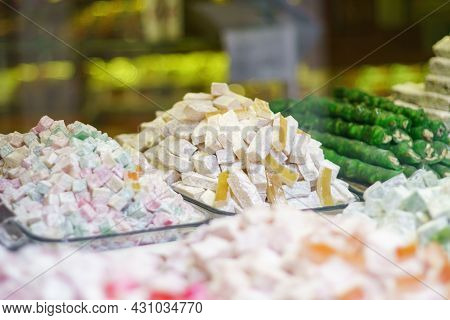 Turkish Delights And Lokum In Istanbul Grand Bazaar, Turkey
