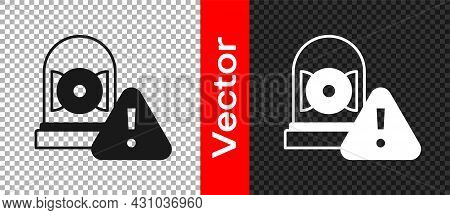 Black Ringing Alarm Bell Icon Isolated On Transparent Background. Alarm Symbol, Service Bell, Handbe