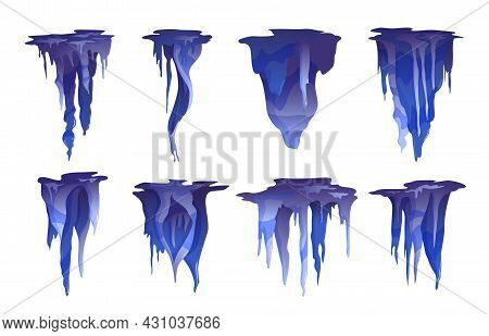 Stalactite Icicle Shaped Hanging From Caves Ceilings Mineral Formations Varieties Cobalt Blue Realis