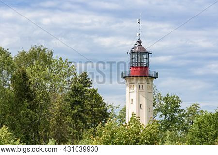 The New Currently Inactive Lighthouse At Cape Rozewie On The Baltic Sea Shore In Poland