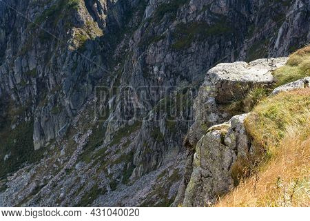 Closeup Of Rock Formations Of Sniezne Kotly, Famous Landmark In Polish Giant Mountains