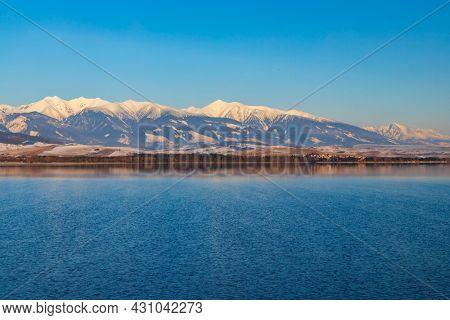 Lake Liptovska Mara, district Liptovsky Mikulas, Slovakia