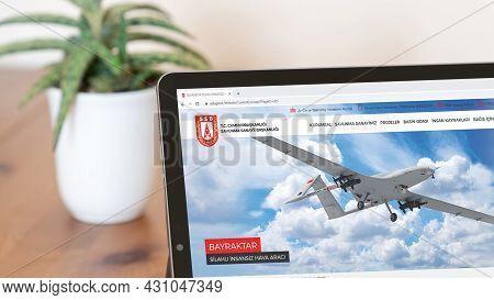 Istanbul, Turkey - August 2021: Illustrative Editorial Of Turkish Ministry Of National Defense Websi