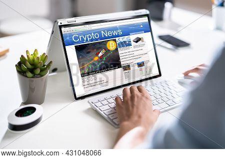 Reading Online Crypto Market Newspaper. Bitcoin News