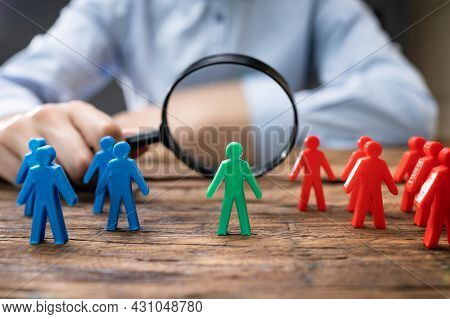 Market Segment Investigation. Marketing And Candidate Recruit