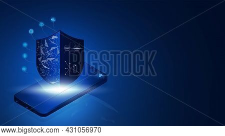 Internet Security Connection On Smartphone, Internet Of Things, Iot, Connection Network Technology,