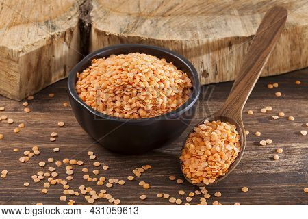 Very Healthy Food; Raw Peeled Red Lentils