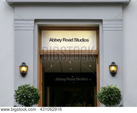London, Uk - June 30, 2014: Abbey Road Recording Studios. In Abbey Road The Most Famous Records In H