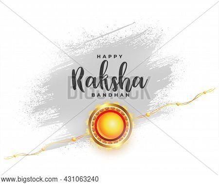 Hindu Festival Of Raksha Bandhan Greeting Design Vector Illustration