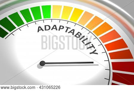 Concept Of Human Adaptability , Development Of Personal Qualities. 3d Illustration