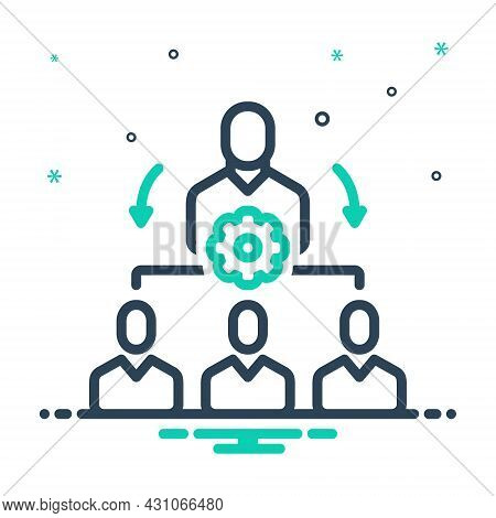 Mix Icon For Organize Coordinate Classify Manage Administer Dominate Maintain Supervise