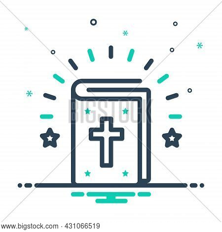 Mix Icon For Bible Authority Creed Doctrine Guidebook Faith Prayer Scripture Catholic Christianity