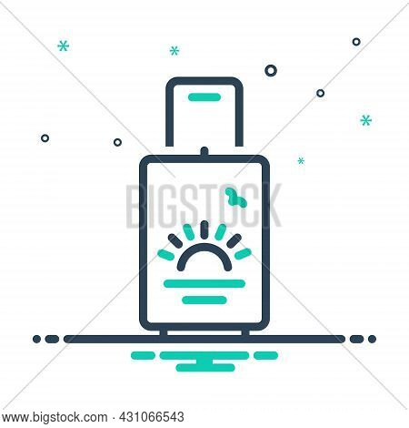 Mix Icon For Holiday Vacation Leave Leisure Leisure-time Travel Tourism