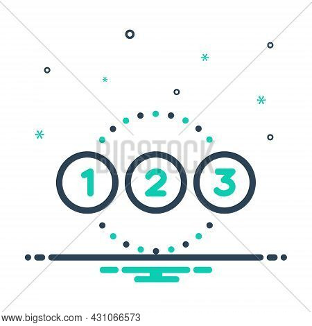 Mix Icon For Number Enumeration Calculation Reckoning Digit Count Numeration