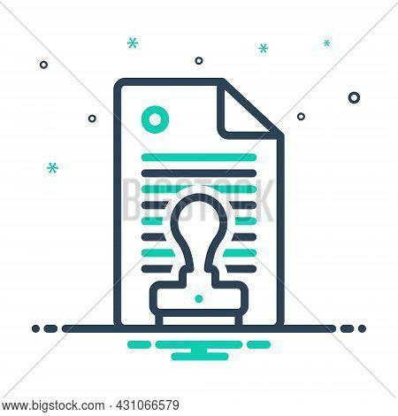 Mix Icon For Permission Authorization Permit Privilege Assent Allowance Imprimatur Assentation