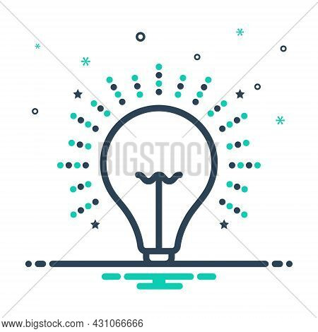Mix Icon For Light Illumination Beacon Lightness Luminosity Radiance Electricity