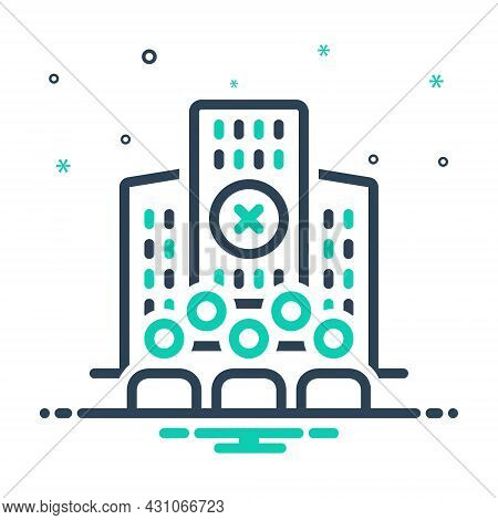 Mix Icon For Limited Company People Hotel Building Finite Bounded
