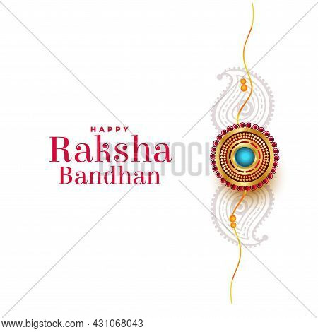 Ethnic Raksha Bandhan Festival White Greeting Design