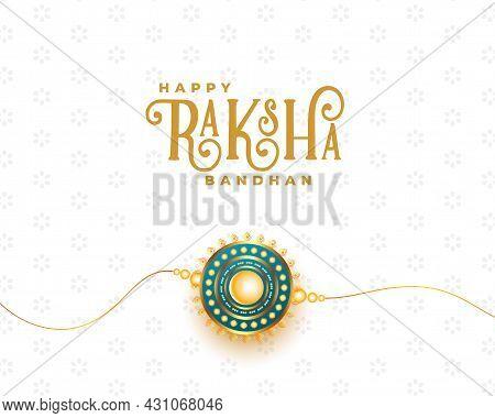 Realistic Raksha Bandhan Festival Card With Rakhi