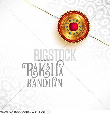 Happy Raksha Bandhan Festival White Background Design