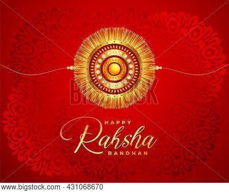 Beautiful Raksha Bandhan Realistic Festival Card Design