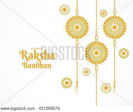 Traditional Happy Raksha Bandhan Flat Greeting Design