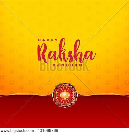 Raksha Bandhan Festival Greeting Design Vector Illustration Background